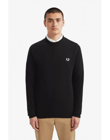 Fred Perry black merino wool sweater