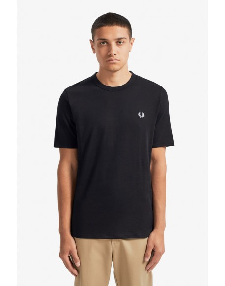 Fred Perry black t-shirt sports tape