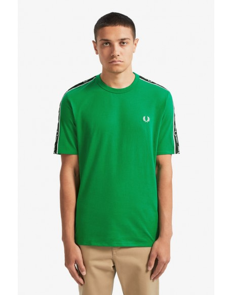 Fred Perry green t-shirt sports tape