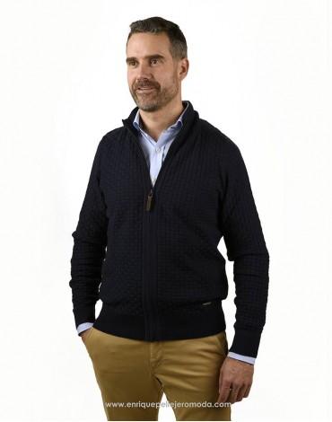 Pertegaz chaqueta punto azul marino