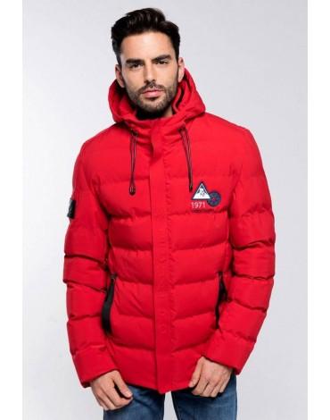 Valecuatro abrigo acolchado rojo