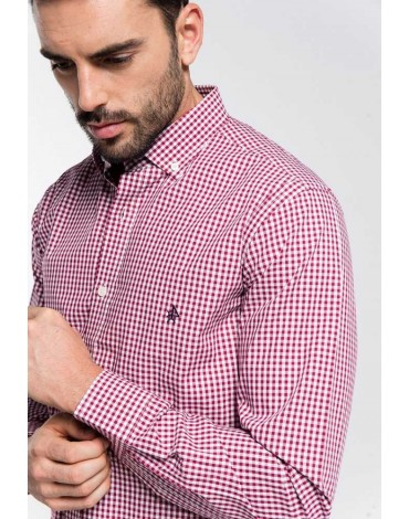 Valecuatro red vichy shirt