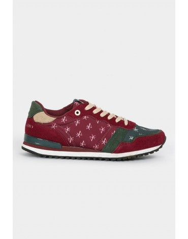 Valecuatro sneakers logos burgundy