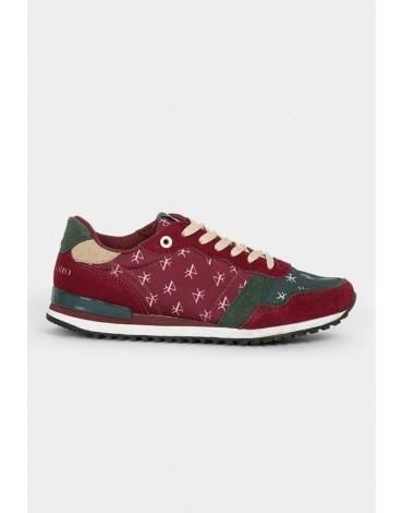 Valecuatro zapatillas logos burdeos