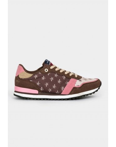 Valecuatro sneakers logos brown