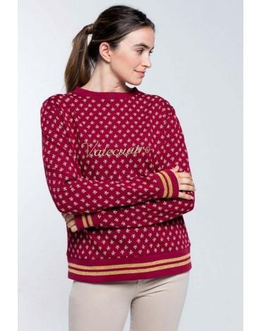 Valecuatro logo burgundy sweatshirt