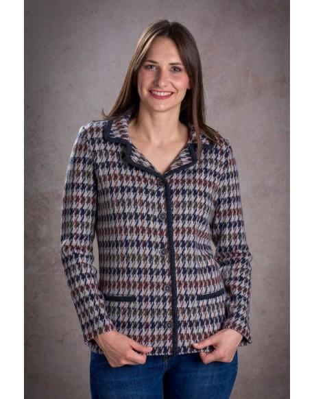 Zero houndstooth jacket