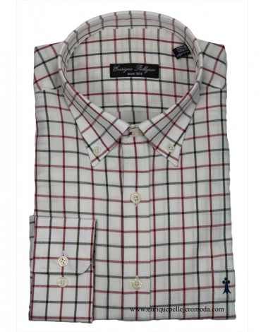 checkered shirt Enrique Pellejero