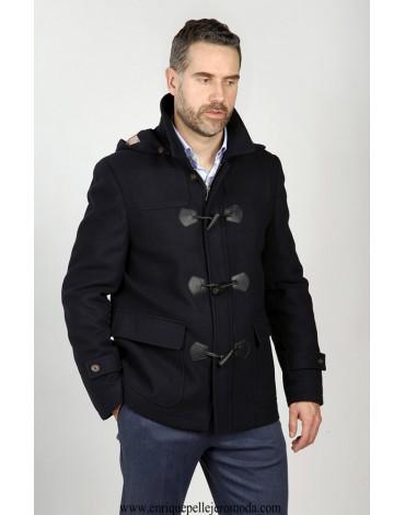 Navy blue duffle coat Enrique Pellejero