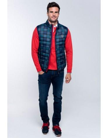 Valecuatro tartan padded vest