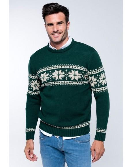 Valecuatro green border sweater