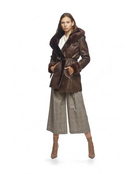 MdM coat fur back hood