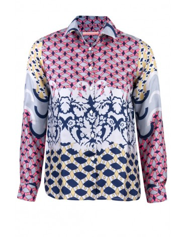 Vilagallo patterned silk shirt