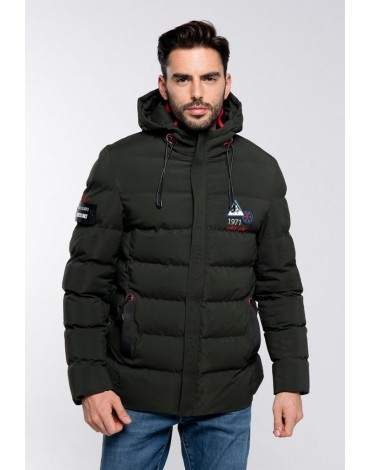 Valecuatro green quilted coat