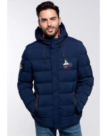 Valecuatro quilted coat navy blue