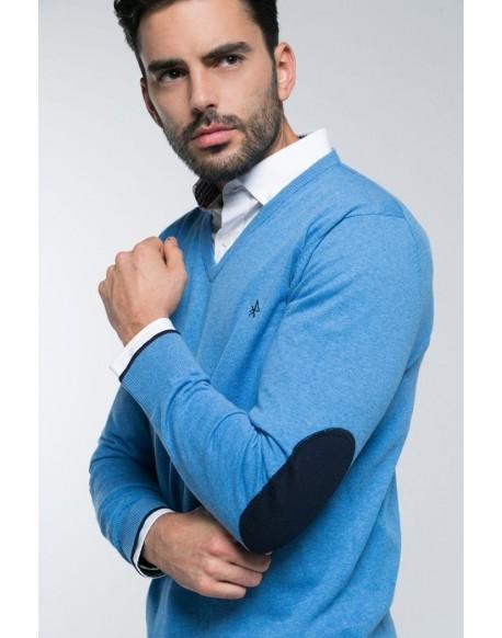 Valecuatro jersey pico azul
