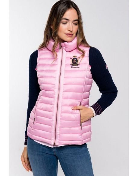 Valecuatro pink quilted vest