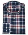 Pertegaz navy plaid shirt