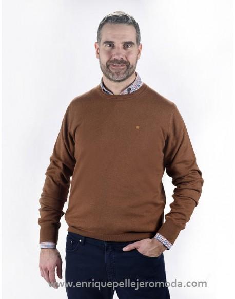 Pertegaz brown round neck sweater