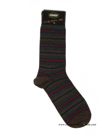 Calcetines rayas gris Jorigu