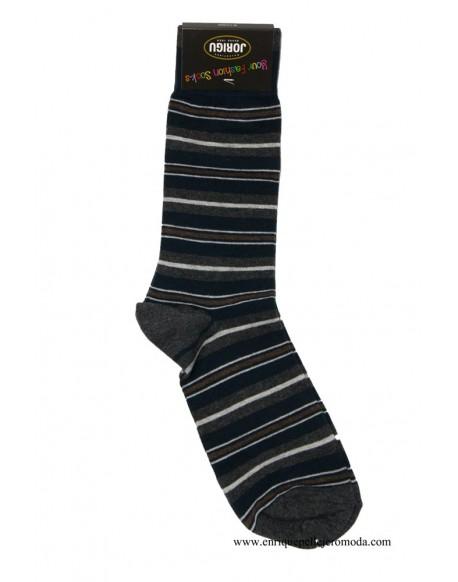 Navy blue striped socks Jorigu