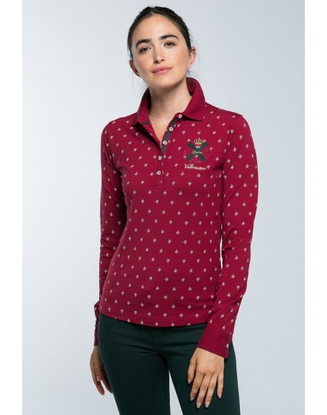 Valecuatro polo shirt bordeaux logos