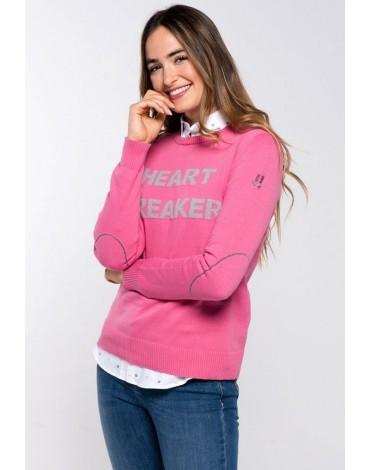 Valecuatro jersey rosa texto
