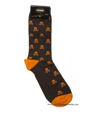 Jorigu ocher skull socks