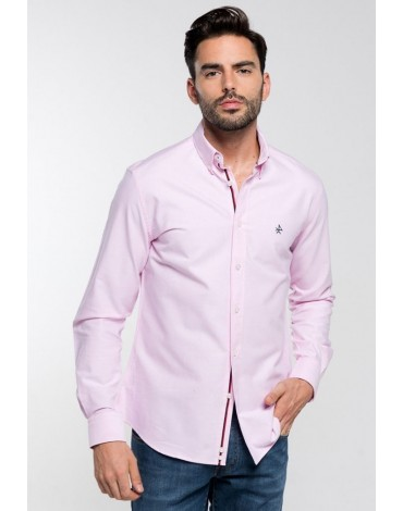 Valecuatro pink oxford shirt