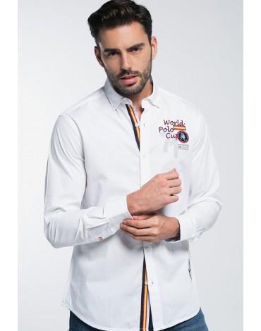 Valecuatro camisa polo España blanca
