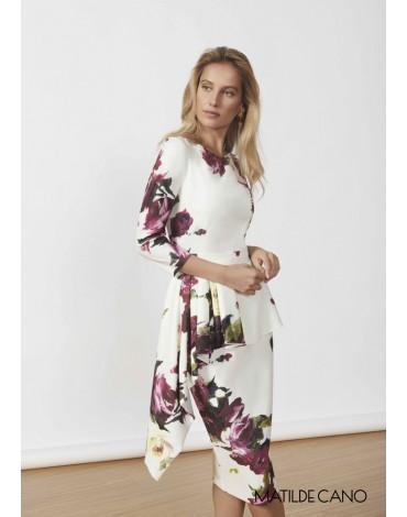 Matilde Cano peplum print dress