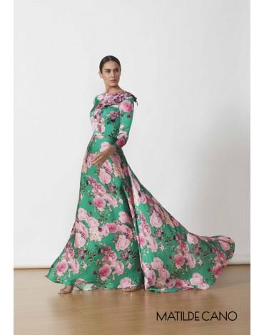 Matilde Cano long print dress