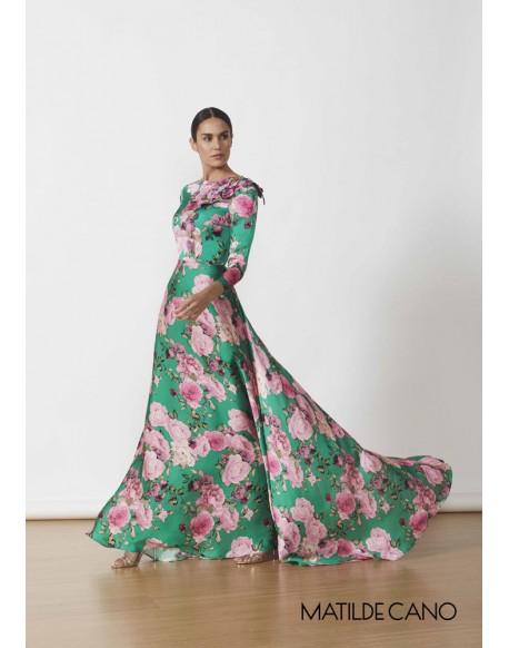 Matilde Cano vestido largo estampado