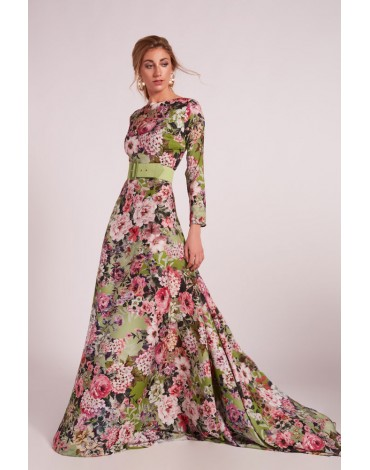 Matilde Cano floral print long dress