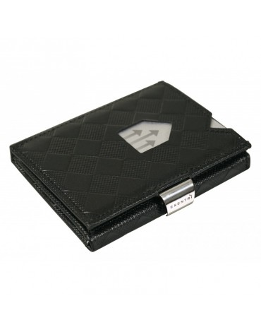 Exentri black leather chess wallet