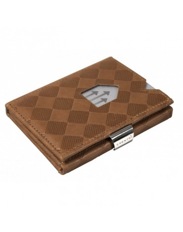 Exentri wallet leather sand chess