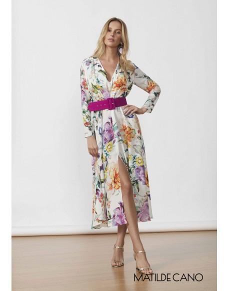 Matilde Cano vestido estampado floral