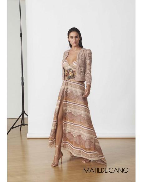 Matilde Cano vestido largo guipur
