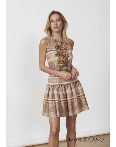 Matilde Cano mini guipure applique dress