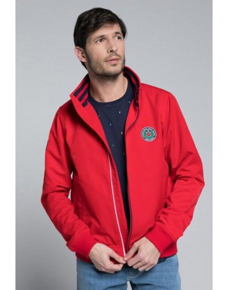 Valecuatro man jacket red flag