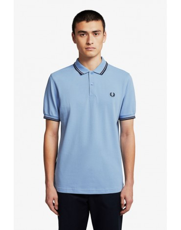 Fred Perry polo celeste franjas