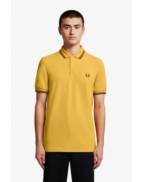 Fred Perry gold polo stripes port