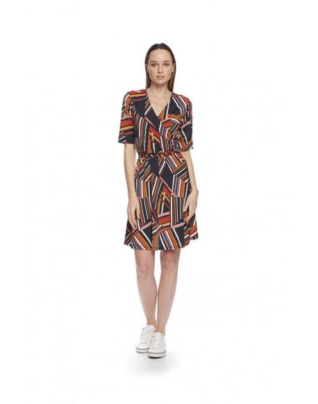 MdM geometric print dress
