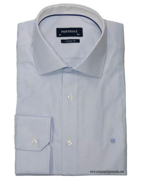 Pertegaz camisa vestir azul
