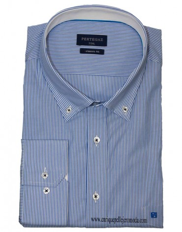 Pertegaz blue stripe sport shirt
