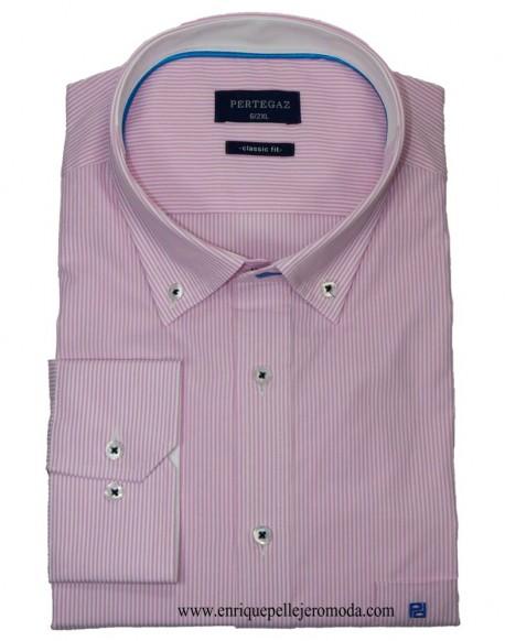 Pertegaz camisa sport rayas rosa