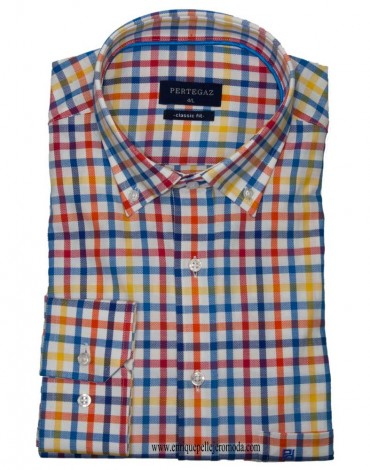 Men's checked sport shirt