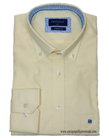 Pertegaz yellow sport shirt
