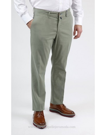 Men's green chino pants