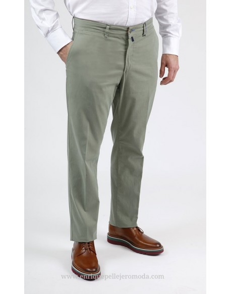 Pantalon chino verde claro